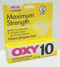 OXY 10 Maximum for Acne pimple 10% benzoyl peroxide 25g