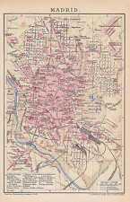 MADRID Centro Chamberi Real STADTPLAN VON 1902 Hippodrom Los Matadores MAPA
