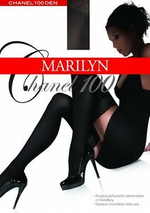 Exclusive Hold-ups by Marilyn  -100 Denier - 9cm Deep Lace Top