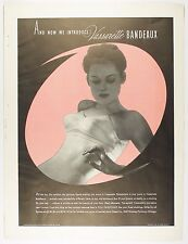 Vintage 1939 VASSAR BANDEAUX, BRASSIERS Full-Page Large Magazine Print Ad