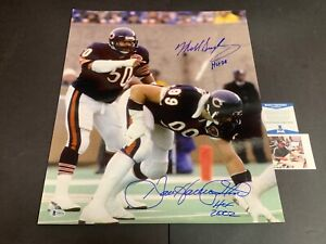 Dan Hampton Mike Singletary Chicago Bears Autographed Signed 16x20 Beckett COA