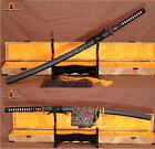 Full Tang Japanese KATANA 1060 Carbon Steel Sharp Blade Samurai Sword Cut Tree