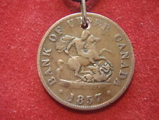 New listing Junk Drawer - Not Junk - Old Coin Necklace - 1857 Canada - 163 Years Old - Look!