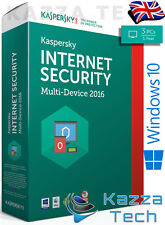 kaspersky internet security 2016 3 user pc multi-device 1 retail dvd sealed