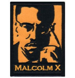 """Malcolm X Patch - Human Rights, Civil Liberties, Activism 3"""" (Iron on)"""