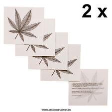 2 x Haschisch Tattoo - Hanfblatt Tatoo - Marihuana Blatt - Hippie - Blitzversand