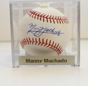 Manny Machado San Diego Padres Orioles Signed Auto PSA Baseball