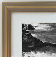 """1.5"""" Gold Wood Wall Picture Frame With White Mat Home Decor Frames by Mail"""