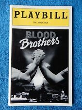 Blood Brothers - Music Box Theatre Playbill w/Ticket - September 7th, 1994