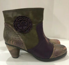 L'Artiste by Spring Step Neske Flower Ankle Boots sz 10-10 1/2 / 41  ~Excellent~