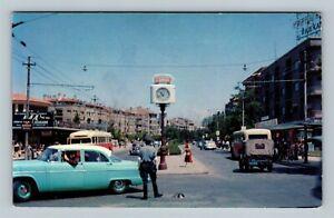 Ankara Turkey, Ataturk Boulevard, Kizilay Square, Clock, Chrome Turkey Postcard