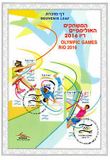 Israel 2016 CTO Olympic Games Rio 2016 3v Set Souvenir Leaf Judo Olympics Stamps
