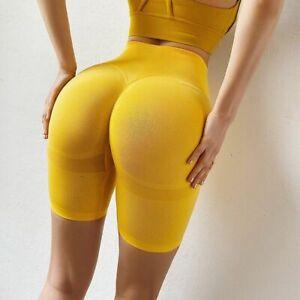 Booty Seamless Legging Short Sport Women Fitness High Waist Yoga Pants Gym S M L