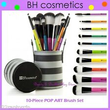 ❤️⭐ NEW BH Cosmetics 😍🔥👍 POP ART Brush Set 💎💋 10-Piece w/Striped Cup Holder