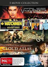 V For Vendetta / Watchmen / Sucker Punch / Cloud Atlas / Hereafter NEW - D60