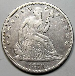 1876 Liberty Seated Half Dollar