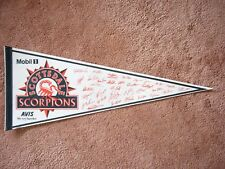 1992 SCOTTSDALE SCORPIONS ARIZONA FALL LEAGUE BASEBALL PENNANT FLAG SHARP!! AUTO