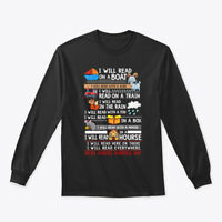 I Will Read On A Boat Gildan Long Sleeve Tee T-Shirt