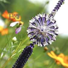Purple Crystal Suncatcher Feng Shui Prisms Pendant Pendulum Hanging Window Gift