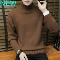 Pullover Casual Knitwear Knitted Sweater T-Shirt Jumper Tops Knit Shirt Mens