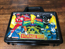 "Vintage 1993 Mighty Morphin Power Rangers 8"" Storage Box/Pencil Case R2"
