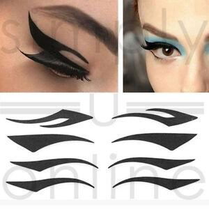Set Of 4 Eyeliner Eye Lid Temporary Tattoo Stickers Transfers Eyes Make Up