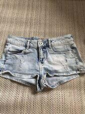 Bershka Denim Shorts Hotpants Size UK 8 EUR 36