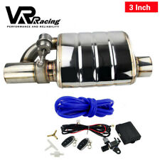 "3.0"" Tip On Single Exhaust Muffler Valve Cutout With Wireless Remote Controller"