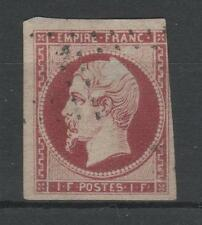 "FRANCE STAMP TIMBRE 18 "" NAPOLEON III 1F CARMIN 1853 "" OBLITERE A VOIR  N798"