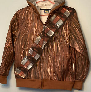 Chewbacca Star Wars Hoodie Zip Jacket Be Chewy Wookie Costume Youth Size SM GUC