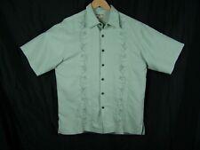 Hook & Tackle Mens Hawaiian Embroidered Marlins & Martinis SS Camp Shirt Size M