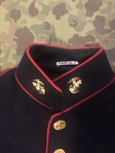 Ww2 Usmc Sgt 3rd Marine Dress Blue Jacket Felt Patch Sgt Ega Named