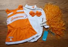 CHEERLEADER COSTUME OUTFIT HALLOWEEN TENNESSEE VOLUNTEERS 12 MTHS POM POMS BOWS