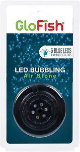 Tetra GloFish Blue LED Bubbler aquarium Lights Air Stone Fish Tanks glow fish