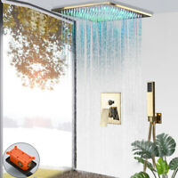 Shower System Shower Combo Set 10 inch LED Rainfall Ceiling Mounted Hand Shower