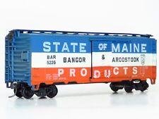 HO Upgraded/Weathered AHM BANGOR & AROOSTOOK 40' Boxcar BAR 5226 KD5