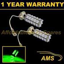 2X H3 GREEN 60 LED FRONT FOG SPOT LAMP LIGHT BULBS HIGH POWER KIT XENON FF500201