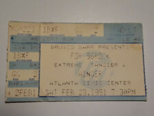Winger Concert Ticket Stub 1991 with Extreme and Tangier - Atlanta Civic Center