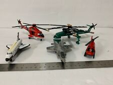 Lot of 5 DieCast airplanes and helicopters