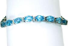 "White Gold 14 Carat Fine Diamond Bangles 7.5 - 7.99"" Length"