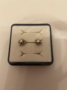 Diamant / Brillant Ohrstecker Gold 585 -Weißgold-14 Karat - Brillant 0,25 Karat