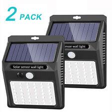 New listing 2Pcs Outdoor Solar Lights Motion Sensor Wall Light 20 Led Waterproof Garden Lamp