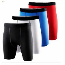 Mens Compression Boxer Shorts Base Layer Briefs Tight Fit Skin Tight Gym Pants