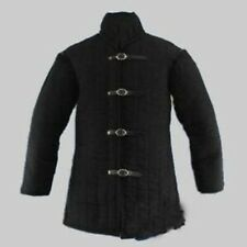 Thick Padded Black Armour Gambeson in standard sizes Medieval Stander ed Size
