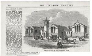 ANTIQUE 1865 PRINT IRELAND MODEL SCHOOLS IN ANGLESEA STREET CORK DISTRICT S17