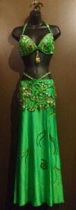 Beautiful Green Egyptian Bellydance Costume