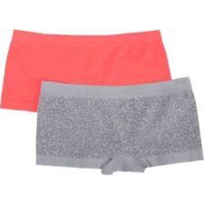 Fruit Of The Loom Girls Seamless Boyshort Panties 2 Pack Cheetah Size LARGE