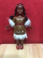 Vintage  Doll American Indian Figure Native American Girl sleepy eyes