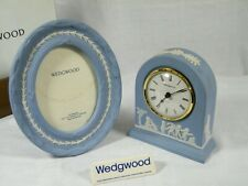 Wedgwood Jasper Ware Dome clock and matching Picture frame, Superb !!!