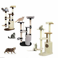 "55"" Cat Tree Condo Scratching Post Kitten Tower House Play Center Pet Furniture"
